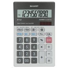 SHARP kalkulačka - EL-M711GGY - stříbrná