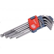 Extol Premium L-klíče IMBUS, sada 9ks, 1,5-10mm, s kuličkou 6609