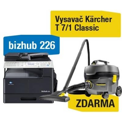 Minolta kopírka bizhub 226 SET1 (bh226 + DF-625 + AD-509 + MK-749 + NC-504) + Kärcher Vysavač  T 7/1 Classic