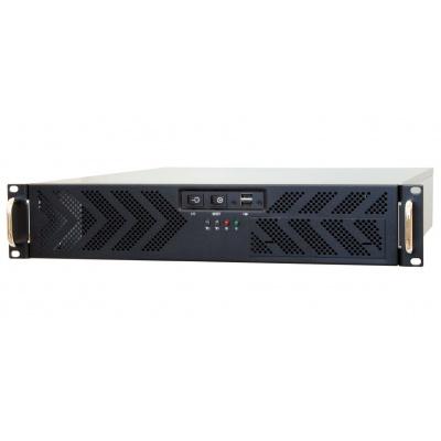 CHIEFTEC skříň Rackmount 2U ATX, UNC-210T-B-U3, 400W, Black, USB 3.0