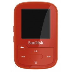 SanDisk Clip Sport Plus MP3 Player 16GB Global, Red