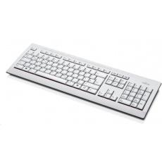 FUJITSU Klávesnice KB521 USB CZ US + 12 multimedia keys - postříkání odolná - marble grey - bílá