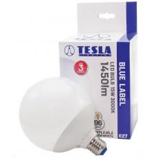 Tesla - LED žárovka GLOBE E27, 15W, 230V, 1450lm, 30 000 hod, 3000K teplá bílá, 300°