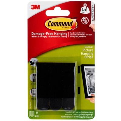 3M COMMAND nalepovací systém rámečků na zeď M-5.4kg, černá