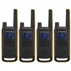 Motorola vysílačka TLKR T82 Extreme Quadpack (4 ks, dosah až 10 km), IPx4, černo/žlutá