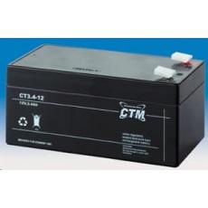 Baterie - CTM CT 12-3,4 (12V/3,4Ah - Faston 187), životnost 5let