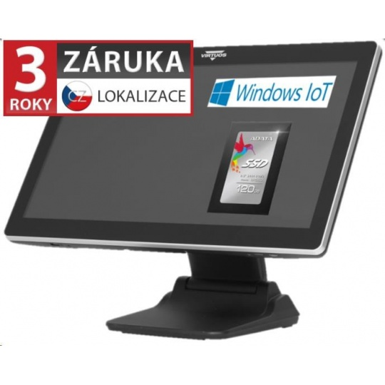 """Virtuos AerPOS PP-8632CV, 22"""", 4GB, 120GB SSD, Win 10 IoT, kapacitní, bezrámečkový"""