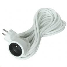 Solight prodlužovací kabel - spojka, 1 zásuvka, bílá, 10m