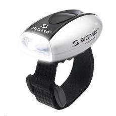 Sigma světlo na kolo MICRO stříbrná / přední světlo LED-bílá