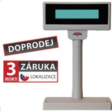 Virtuos LCD zákaznický displej Virtuos FL-2024LW 2x20, USB, 5V, béžový