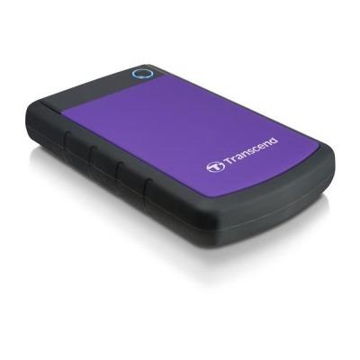 """TRANSCEND externí HDD 2,5"""" USB 3.0 StoreJet 25H3P, 4TB, Purple (nárazuvzdorný)"""