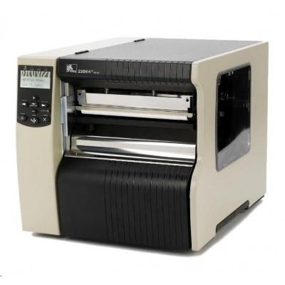 ZEBRA 220Xi4 průmyslová tiskárna 203dpi, 216mm, USB, RS232, LAN, DT/TT, řezačka