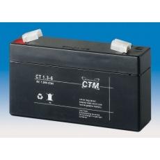 Baterie - CTM CT 6-1,3 (6V/1,3Ah - Faston 187), životnost 5let