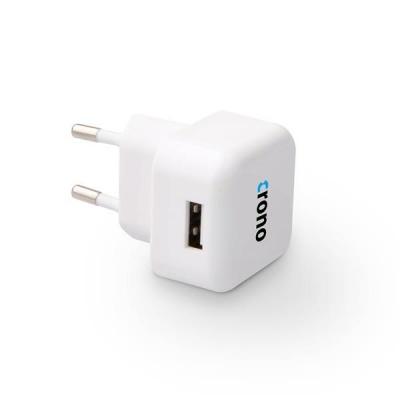 CRONO univerzální USB nabíječka, 1x USB, 1000 mA, bílá