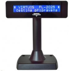 Virtuos zákaznický displej Virtuos FL-2025MB 2x20, RS232, černý